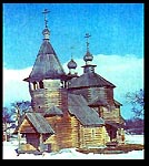 Church of Resurrection in Museum of wooden architecture in Suzdal. Relocated from the village of Potapovo.